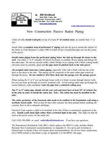 New Construction Passive Radon Piping - Wpb-radon.com