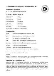 Årsberetning for Sarpsborg Geologiforening 2010 - NAGS