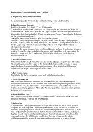 Protokoll der Vorstandssitzung vom 17.04.2003 1. Begrüssung ...