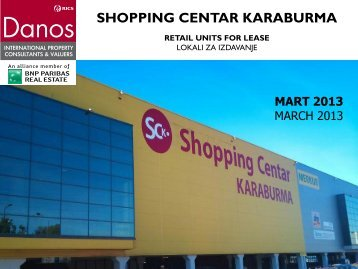retail units for lease lokali za izdavanje - DANOS