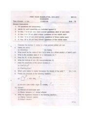 FIRST TERM EXAMINATION, 2011-2012 SKT-19 CHEMISTRY ...