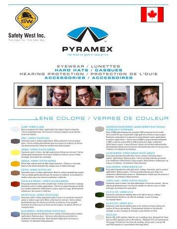 LENS COLORS / VERRES DE COULEUR - Safety West Inc.