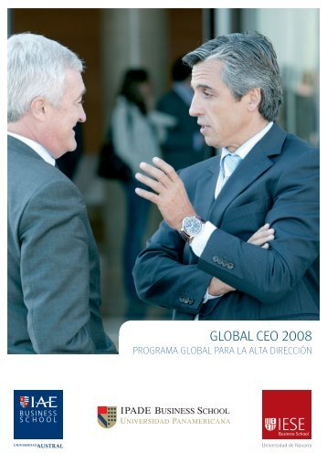 GLOBAL CEO 2008 - IAE Business School