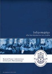 Untitled - Wydział Prawa i Administracji UW - Uniwersytet Warszawski