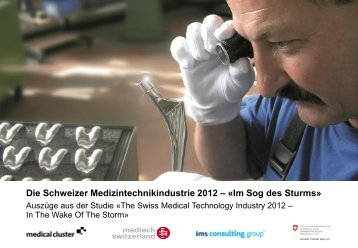 Swiss Medical Technology Industry 2012 - Implantate Schweiz