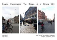 Livable Copenhagen: The Design of a Bicycle City - Green Futures ...