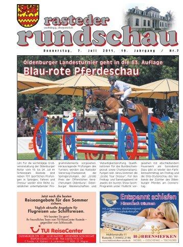 rasteder rundschau, Ausgabe Juli 2011