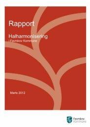 Rapport- halharmonisering i Favrskov Kommune