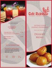 Dessert Menu - Cafe Rickshaw