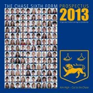 2013 VIth Form Prospectus (PDF) - The Chase Technology College