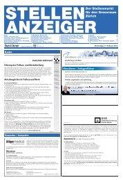 Der Stellenmarkt für den Grossraum Zürich