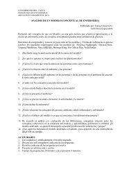 analisis de un modelo conceptual de enfermeria - Universidad del ...
