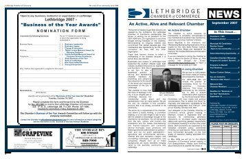 September 2007 - Lethbridge Chamber of Commerce
