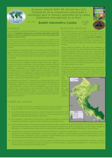 Boletín Informativo Caoba - Universidad Nacional Agraria La Molina