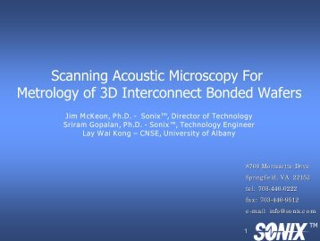 Scanning Acoustic Microscopy for Metrology of 3D ... - Sematech