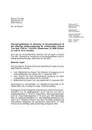 Tilslutningstilladelse til afledning af industrispildevand til det ...