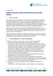 Notitie juridische context Publicatiereeks Gevaarlijke Stoffen