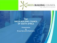 THE GREEN BUILDING COUNCIL OF SOUTH AFRICA