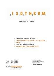 Ceník Isotherm - 01.11.2012 CZ