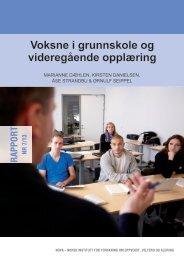 Voksne i grunnskole og videregående opplæring - Nova