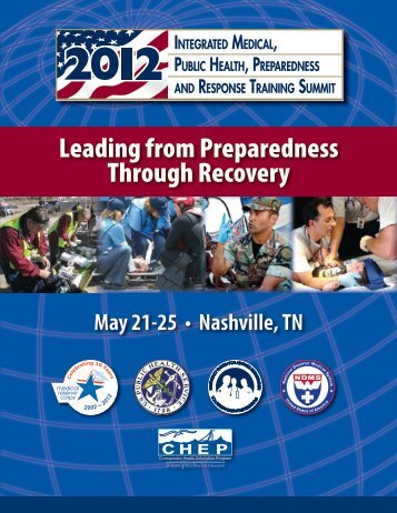Leading from Preparedness Through Recovery - The 2012 ...