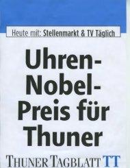Thuner Tagblatt Prix Gaïa - Haldimann Horology