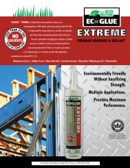 ECOGLUE™ EXTREME is a high performance ... - The Glu Guru