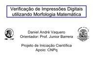 Verificação de Impressões Digitais utilizando Morfologia Matemática