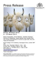 Press Release - New Exhibitions of Contemporary Art