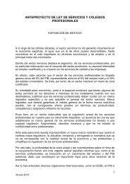 anteproyecto de ley de servicios profesionales - Diario Médico