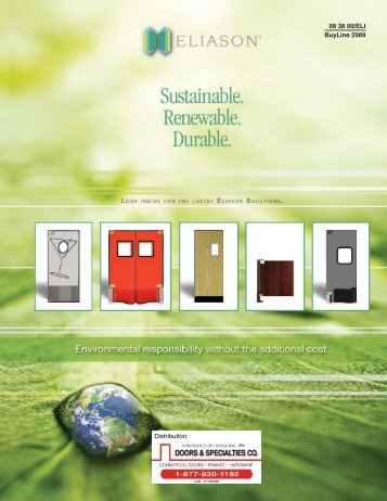 08 38 00/ELI Buyline 2989 Distribution: - Doors & Specialties Co