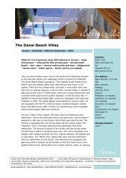 The Danai Beach Villas - Domizile Reisen