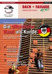 Kundenzeitschrift Dach + Fassade Nr. 2/2009