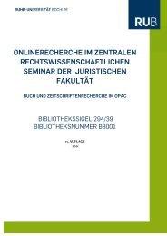 onlinerecherche im zentralen rechtswissenschaftlichen seminar der ...