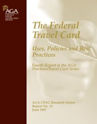 The Federal Travel Card - Uses, Policies and Best Practices - AGA
