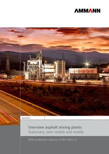 Overview asphalt mixing plants Stationary, mobile ... - Ammann Group