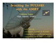 YGupta Oct07 GMRT of NCRA 3rdDAG07 JNU Delhi BW.pdf - Garuda