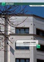 Rapport annuel Accimmo Pierre 2012. - BNP Paribas REIM