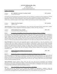 LEVENT IRMAK (BSc, MSc) - The Dispute Board Federation