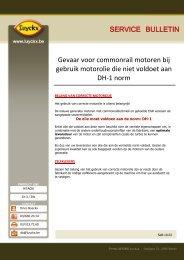 Gevaar voor commonrail motoren bij gebruik motorolie die ... - Luyckx