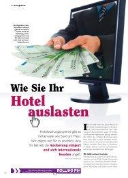 Hotel auslasten - ROLLINGPIN