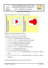 Resolver os exercícios 9, 14, 11, 10 15, 16, 17, 18b), 19 a) e 22