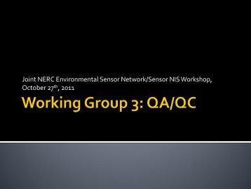 Group 3 Report - LTER Information Management