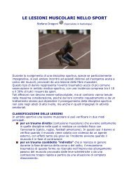 LE LESIONI MUSCOLARI NELLO SPORT - Sport Medicina