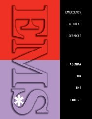 emergency medical services agenda for the future - NHTSA EMS