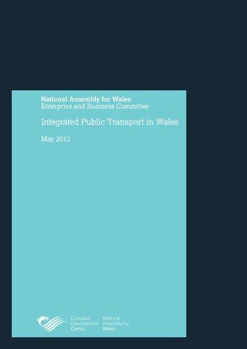Report on Integrated Public Transport - Senedd.assemblywales.org ...