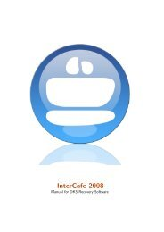 Intercafe 2008 Manual for DKS Recovery Software