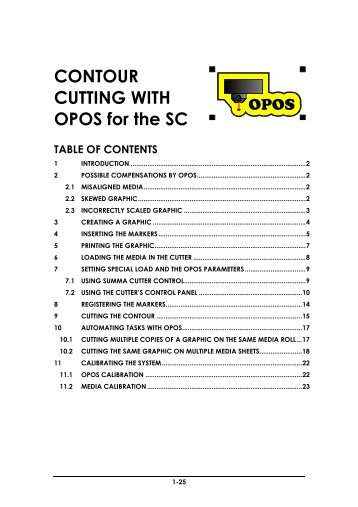 CONTOUR CUTTING WITH OPOS for the SC - Summa Online