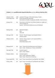 Zeitplan für den qualifizierenden Hauptschulabschluss und den ...