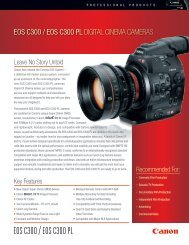 eos c300 / eos c300 pl digital cinema cameras - Communications ...